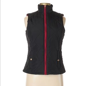 Lauren by Ralph Lauren black red puffer vest small
